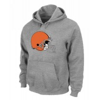 Cleveland Browns Logo Pullover Hoodie Grey
