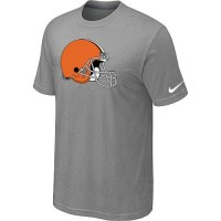 Cleveland Browns Sideline Legend Authentic Logo Dri-FIT Nike NFL T-Shirt Light Grey