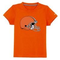 Cleveland Browns Sideline Legend Authentic Logo Youth T-Shirt Orange