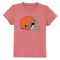 Cleveland Browns Sideline Legend Authentic Logo Youth T-Shirt Pink
