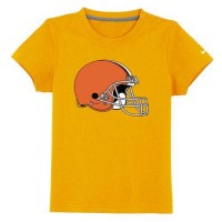 Cleveland Browns Sideline Legend Authentic Logo Youth T-Shirt Yellow