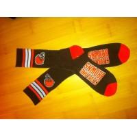 Cleveland Browns Team Logo Brown NFL Socks