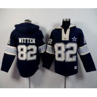 Dallas Cowboys #82 Jason Witten Navy Blue Player Winning Method Pullover NFL Hoodie