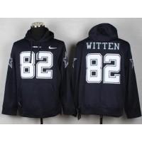 Dallas Cowboys #82 Jason Witten Navy Blue Pullover NFL Hoodie
