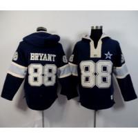 Dallas Cowboys #88 Dez Bryant Navy Blue Player Winning Method Pullover NFL Hoodie