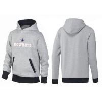 Dallas Cowboys Authentic Logo Pullover Hoodie Grey & Black