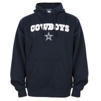 Dallas Cowboys Crowell Pullover Hoodie Navy