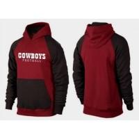 Dallas Cowboys English Version Pullover Hoodie Burgundy Red & Black