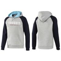 Dallas Cowboys English Version Pullover Hoodie Grey & Blue