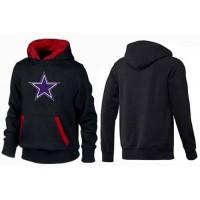 Dallas Cowboys Logo Pullover Hoodie Black & Red