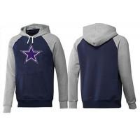 Dallas Cowboys Logo Pullover Hoodie Dark Blue & Grey
