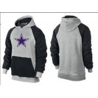 Dallas Cowboys Logo Pullover Hoodie Grey & Blue