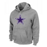 Dallas Cowboys Logo Pullover Hoodie Grey