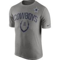 Dallas Cowboys Nike Legend Icon Performance T-Shirt Dark Gray