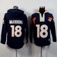 Denver Broncos #18 Peyton Manning Navy Blue Player Winning Method Pullover NFL Hoodie
