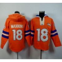 Denver Broncos #18 Peyton Manning Orange Player Winning Method Pullover NFL Hoodie