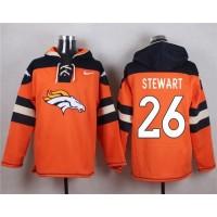 Denver Broncos #26 Darian Stewart Orange Player Pullover NFL Hoodie