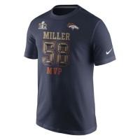 Denver Broncos #58 Von Miller Nike Super Bowl 50 Champions Game MVP Name & Number T-Shirt Navy