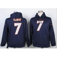Denver Broncos #7 John Elway Blue Pullover Hoodie