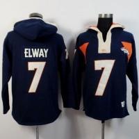 Denver Broncos #7 John Elway Navy Blue Player Winning Method Pullover NFL Hoodie