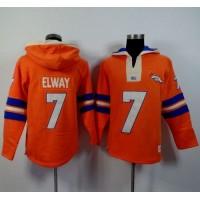 Denver Broncos #7 John Elway Orange Player Winning Method Pullover NFL Hoodie