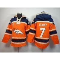 Denver Broncos #7 John Elway Orange Sawyer Hooded Sweatshirt NFL Hoodie