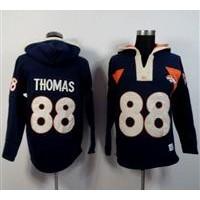 Denver Broncos #88 Demaryius Thomas Navy Blue Player Winning Method Pullover NFL Hoodie