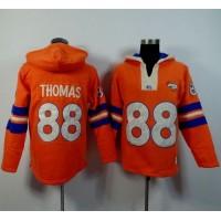 Denver Broncos #88 Demaryius Thomas Orange Player Winning Method Pullover NFL Hoodie
