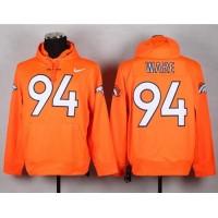 Denver Broncos #94 DeMarcus Ware Orange Pullover NFL Hoodie