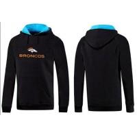 Denver Broncos Authentic Logo Pullover Hoodie Black & Blue