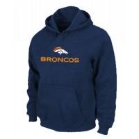 Denver Broncos Authentic Logo Pullover Hoodie Dark Blue