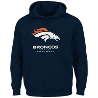 Denver Broncos Critical Victory Pullover Hoodie Navy Blue