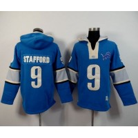Detroit Lions #9 Matthew Stafford Blue Player Winning Method Pullover NFL Hoodie