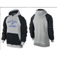 Detroit Lions Heart & Soul Pullover Hoodie Grey & Dark Blue