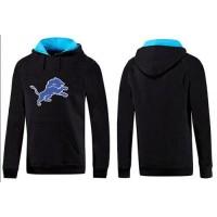 Detroit Lions Logo Pullover Hoodie Black & Blue