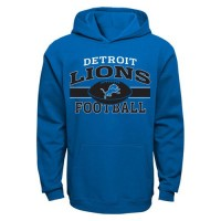 Detroit Lions Long Pass Pullover Hoodie Light Blue