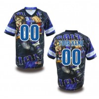 Detroit Lions NFL Customized Fanatic Version Jersey