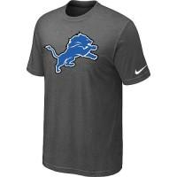 Detroit Lions Sideline Legend Authentic Logo Dri-FIT Nike NFL T-Shirt Crow Grey