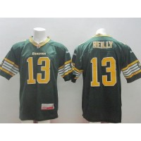 Edmonton Eskimos #13 Mike Reilly Green Stitched CFL Jersey