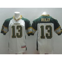 Edmonton Eskimos #13 Mike Reilly White Stitched CFL Jersey