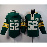 Green Bay Packers #52 Clay Matthews Green Player Winning Method Pullover NFL Hoodie