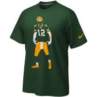 Green Bay Packers Aaron Rodgers Nike Silhouette T-Shirt Green