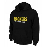 Green Bay Packers Font Pullover Hoodie Black