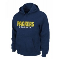 Green Bay Packers Font Pullover Hoodie Dark Blue