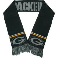 Green Bay Packers Ladies Metallic Thread Scarf Green