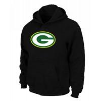 Green Bay Packers Logo Pullover Hoodie Black