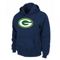Green Bay Packers Logo Pullover Hoodie Dark Blue