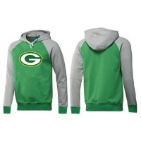 Green Bay Packers Logo Pullover Hoodie Green & Grey