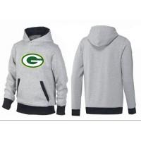 Green Bay Packers Logo Pullover Hoodie Grey & Black