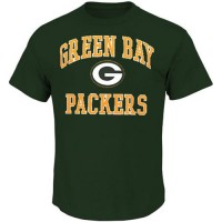 Green Bay Packers Majestic Big and Tall Heart & Soul III T-Shirt Green